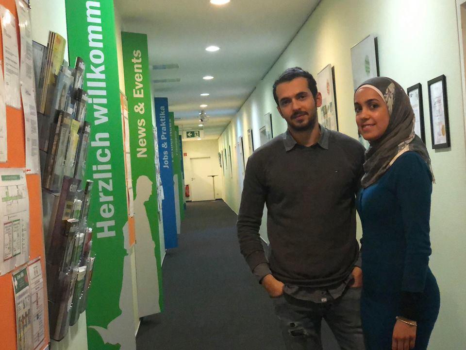 Yousef El-Dada und Asmaa Aldaher in der Sprachschule